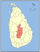 Administrative Area of Central Province, Sri Lanka